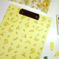 바나나 패턴 A4 컬러 클립보드
