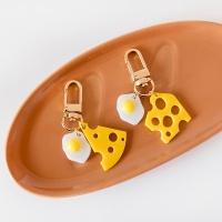 노란매력 치즈계란 에어팟 키링