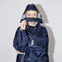 OVERSIZED RAIN COAT [black]