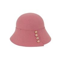 [에반스]Button felt Hat 버튼 펠트모자_pink