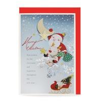 크리스마스카드/성탄절/트리/산타 달 (FS110-2)