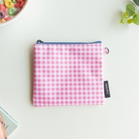 FLAT POUCH M-cherry check