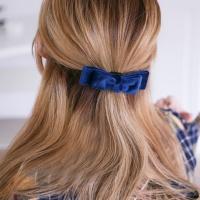 스웨이드 리본 머리끈