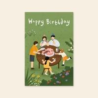 [카드] Happy birthday (2020가족) 캘리그라피 카드