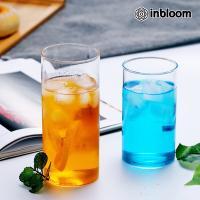 인블룸 북유럽스타일 투명 유리 원형컵 450ml