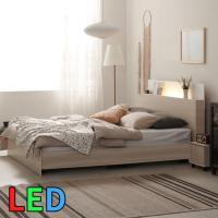 모델하우스 LED조명 침대 퀸 KC141