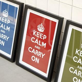 SOHO블랙 KEEP CALM 포스터 - 10Colors