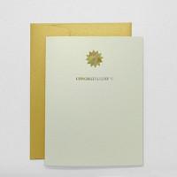 그리팅 카드 - 골드축하