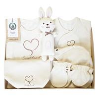 오가닉 프리미엄 하트 신생아 선물세트(출산선물7종세트)