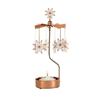 ROTARY CANDLE HOLDER STAR COPPER XL