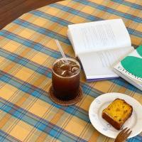 에블린 빈티지 체크 방수 식탁보 2인정사각