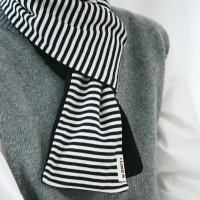 BASIC STRIPE STOLE (black)