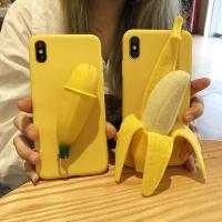 아이폰 귀여운 입체 바나나 실리콘 휴대폰 케이스