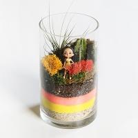 디즈니 공주 피규어 테라리움 세트 - 포카혼타스