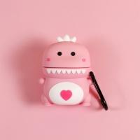 철가루스티커/에어팟 공룡 실리콘 케이스 1/2_핑크216