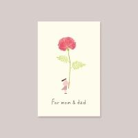 [카드] 엄마 아빠 위하여 캘리그라피카드