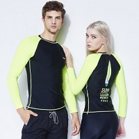 [AGUSFIN] SURFERS RASHGUARD (BLACK-YELLOW)