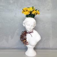 깃털 수공예 아트 중형 비너스여인 석고상화분 38cm