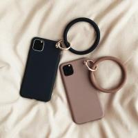 아이폰11 프로 맥스 단색 슬림 링스트랩 실리콘케이스