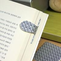 [플라스틱&자석 자동책갈피수지인] 패턴리본