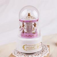 미니돔 회전목마 오르골 - 핑크(SK52)