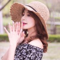 레이스리본 밀짚 모자