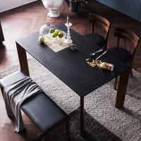 [채우리] 로쉬 화산석 4인식탁세트(의자/벤치)