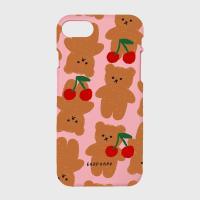 Dot cherry big bear-pink(color jelly)