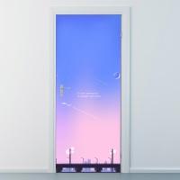nces245-달빛아래세상-현관문시트지