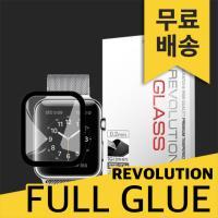 (2매)레볼루션글라스 3D풀글루 강화유리 애플워치3LTE