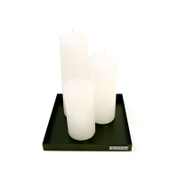 Block White Candle 3size