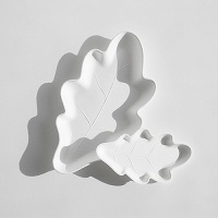 오크잎접시M 기프트팩-4P (친환경생분해접시 / 플러스네이처Oak Leaf)
