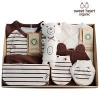 [출산선물 7종세트]오가닉 프리미엄 브라운곰 신생아 선물세트