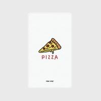 [어프어프] 보조배터리 Pizza-white