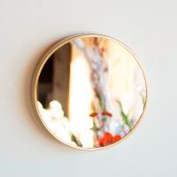 모니에 스틸 원형 벽거울