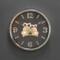 (kcjg047)저소음 트윈부엉이 시계 실버 350