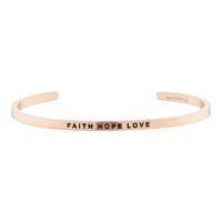 [만트라뱅글] FAITH HOPE LOVE - 로즈골드