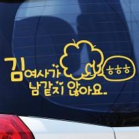 김여사가 남같지 않아요 - 초보운전스티커(139)