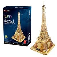 큐빅펀 3D퍼즐 에펠탑 골드LED 한정판