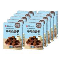 (박스특가) 큐원 수제초콜릿믹스 160g x10개/전자레인지용