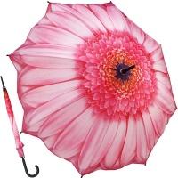 핑크 데이지 - 원목자동장우산