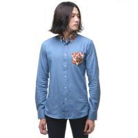 슈퍼크록 나뭇잎 포켓 셔츠 블루