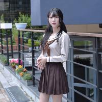 따뜻한 브라운 세라복 세트 (긴팔)