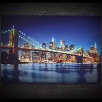 [LED 캔버스 조명액자] 브루클린 브릿지의 야경