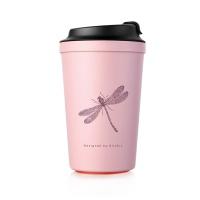 아티아트 아이디어 카페 석션 컵 핑크 340ml