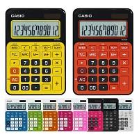 카시오 일반용 컬러계산기 MS-20NC/12자리 / 상수 / 세금계산 / 00키 / 메모리계산 /심플한 디자인