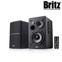 브리츠 2채널 Hi-Fi 블루투스 북쉘프 스피커 BR-1600BT (42W 출력 / 볼륨 컨트롤패널 / 전면 에어덕트)