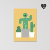 (유기견후원)독맨 엽서-cactus