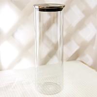 스텐 내열유리 원통 캐니스터 (30CM)