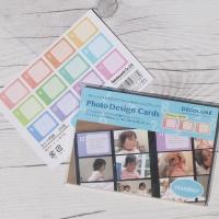 [Nakabayashi] 앨범꾸미기 데코 엽서-나카바야시 포토 디자인 카드 24매 HF495-7 숫자